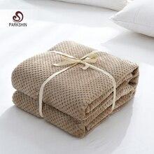Parkshin, manta de piña moderna de franela caqui, manta para sofá o oficina para adultos, manta de viaje para coche, manta para sofá