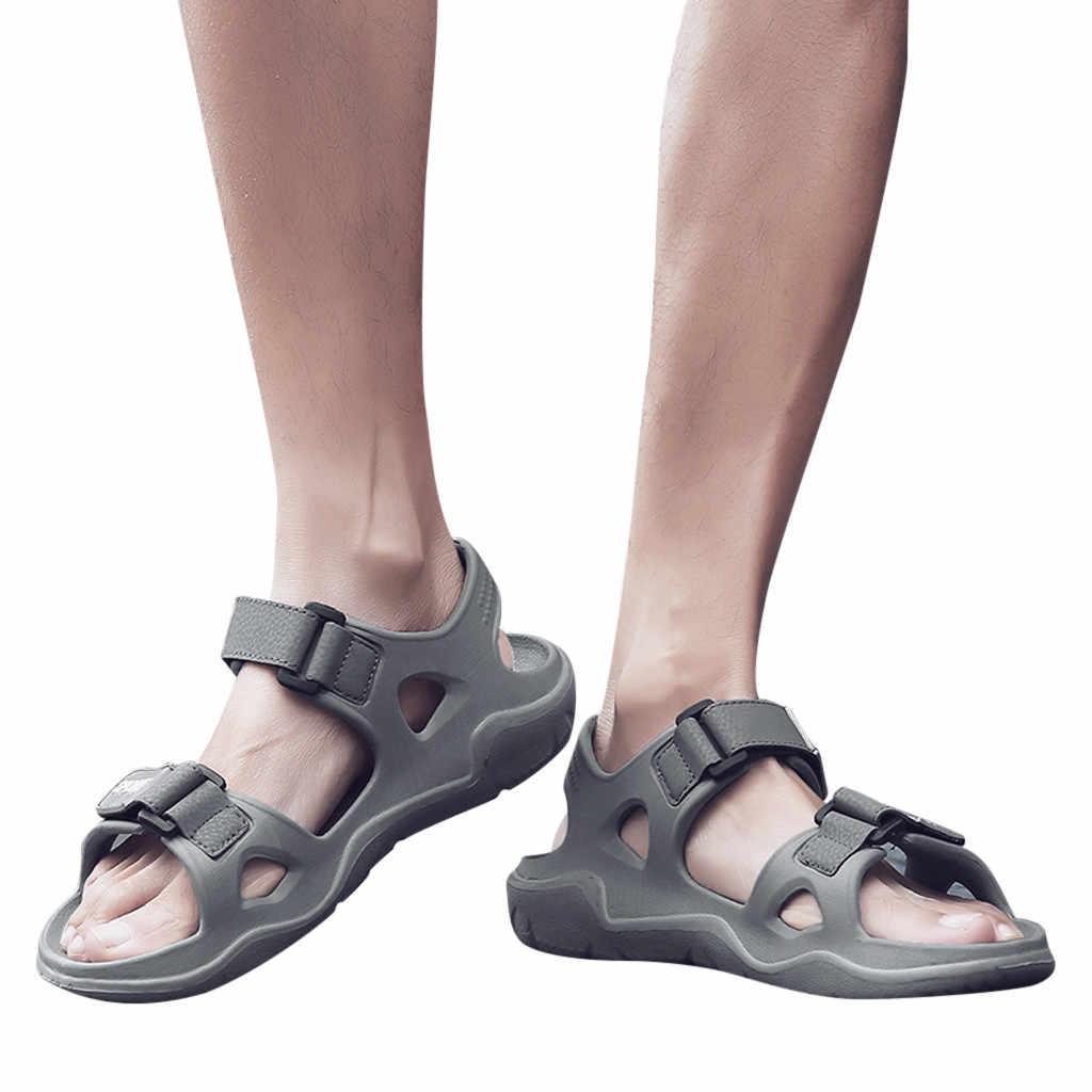 Męskie modne buty w stylu Casual letnie odkryte wygodne