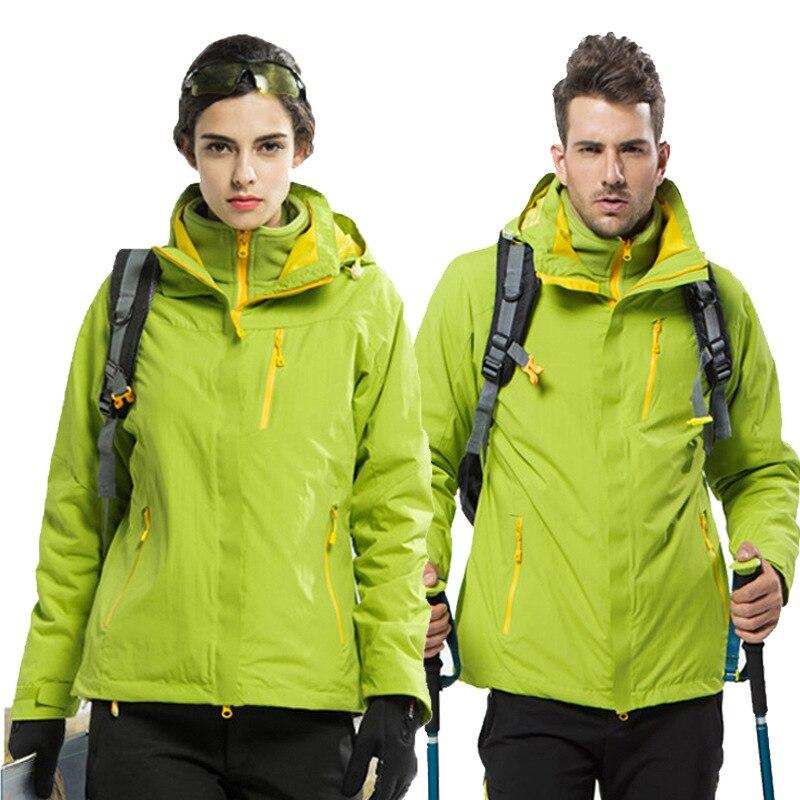 Three In One Men's Outdoor Sport Jacket Winter Fleece Thermal Waterproof Windbreaker Women Climbing Camping Coat Skiing Jackets