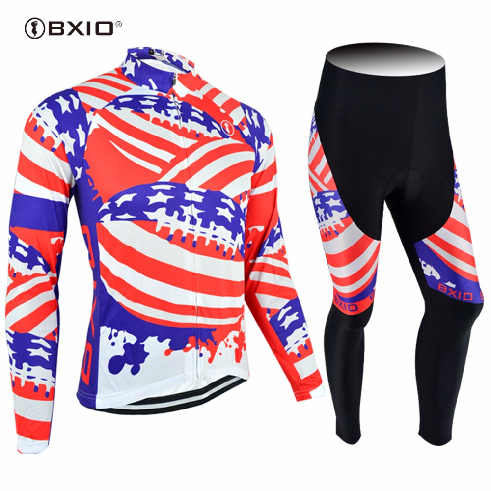 2017 New Arrival Bxio Custom Cycling Set Long Sleeve Bicycle Wear Pro Team Ride Jerseys MTB Road Bike Maillot Ciclismo 078 west biking bike chain wheel 39 53t bicycle crank 170 175mm fit speed 9 mtb road bike cycling bicycle crank