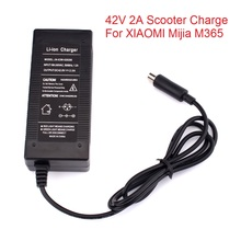 42V 2A Electric Skatebaord Adapter Scooter Power Charger For Xiaomi Mijia M365 Electric Scooter Bike Accessories EU/US/UK Plug 42v 2a universal battery charger for hoverboard smart balance 36v electric power scooter adapter charger eu us