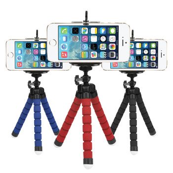 Mini Flexible Sponge Octopus Tripod for iPhone Samsung Xiaomi Huawei Mobile Phone Smartphone Tripod for Gopro Camera DSLR Mount