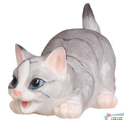 New Creative Animal Resin Cat Sculpture Home Crafts Shelf Ornaments Garden  Decoration Animals Birthday Gift Cat