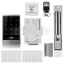 DIYSECUR 8000User Electric Bolt Lock RFID Touch Reader Password Keypad Door Access Control Security System Kit C20