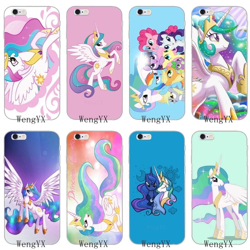 Kartun My Little Pony Putri Celestia Slim Silikon Lembut Ponsel Case Untuk Iphone 4 4 S 5 5 S 5 5c Se 6 6 S Plus 7 7 Plus 8 8 Plus X Kasus Telepon Penutup Aliexpress