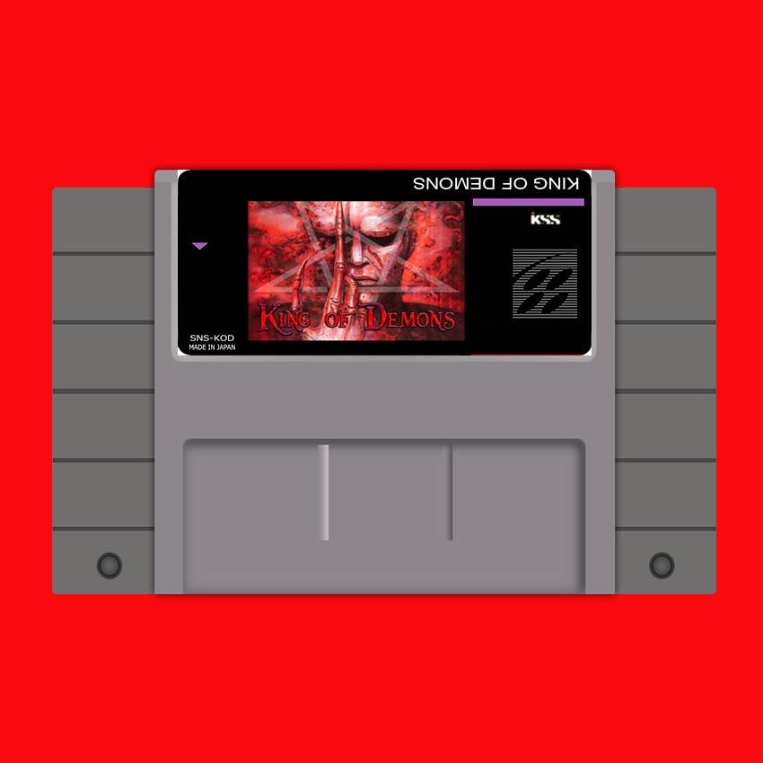 King of Demons 16 bit Big Gray Game Card For USA NTSC Game Player