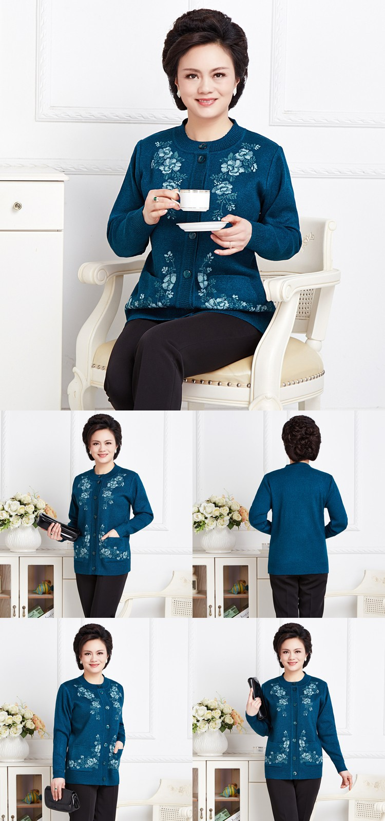 Winter Warm Wool Sweater For Women Pullover Female Printing Flower Knitted Ladies Embroidered Sweaters Pullovers bbb