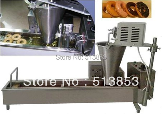Free Shipping High quality Electric Automatic donut machine( GB-8T) automatic donut making and frying machines with 3 mold free shipping