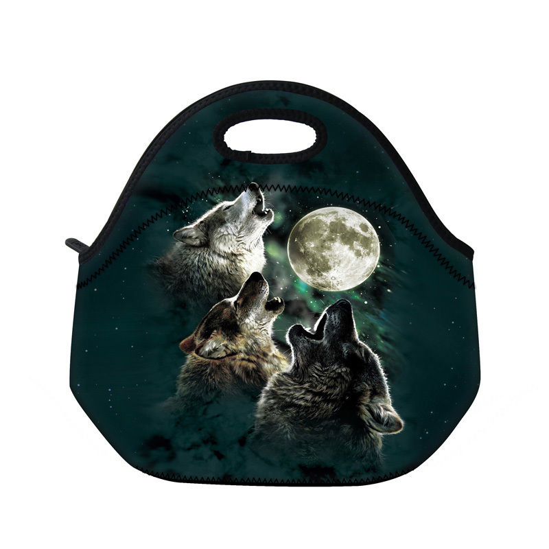 Cool Print Lunch Bags Insulated Thermal Cooler Lunch Box Carry Tote For Women Men Kids Thermal Picnic Storage Handbag Waterproof