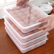 24 Grid Egg Box Food Container Organizer breservation Containers Storage Boxes     Durable Multifunctional Crisper Kitchen Suppl недорого