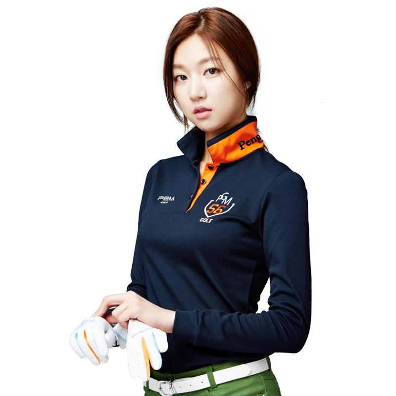 PGM Značka oblečení Dámské Top Polo Shirt Tenisové Tričko s dlouhým rukávem Suché Fit Ropa De Golf Polera Hombre Sportovní oblečení Femme Oblečení Nové