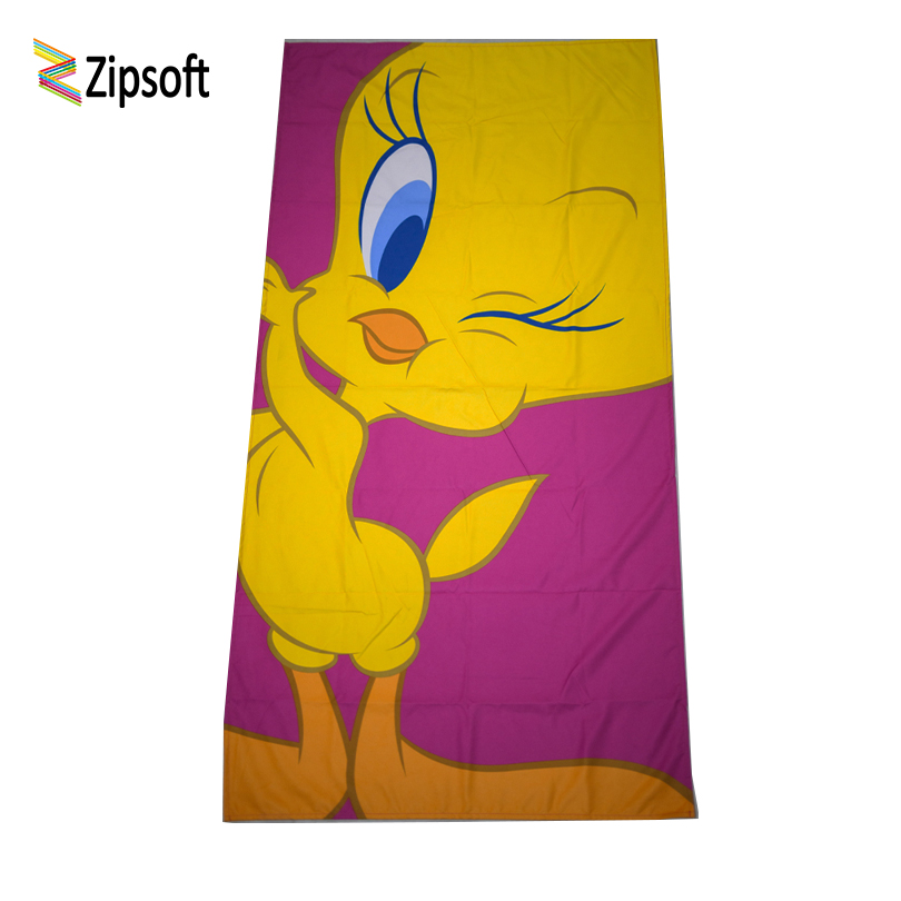 Zipsoft Cute Duck Beach towel for Children Boy Microfiber 75*155cm towels for camping bath antibacterial quick dry Lightweight