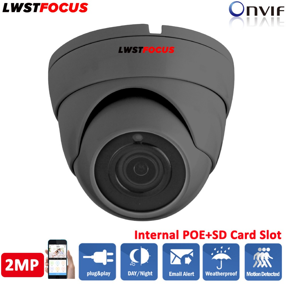 LWSTFOCUS 2MP 1080P HD IP Camera Micro SD/TF Card Sony IMX323 2.8/3.6mm P2P In/Outdoor IR Dome Network CCTV Camera FREEIP ONVIF ssk scrm 060 multi in one usb 2 0 card reader for sd ms micro sd tf white
