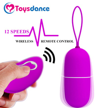 Toysdance Silicone Bullet Vibrator 12 Speeds Wireless Remote Control Love Egg Sex Toy For Women G-spot/Clitoral/Anal Massager