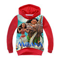 2017 Spring Children T-shirts Boys Hoodies Casual Cotton Sweatshirts Kids Boys Tops Cartoon Moana Print Girls Clothes