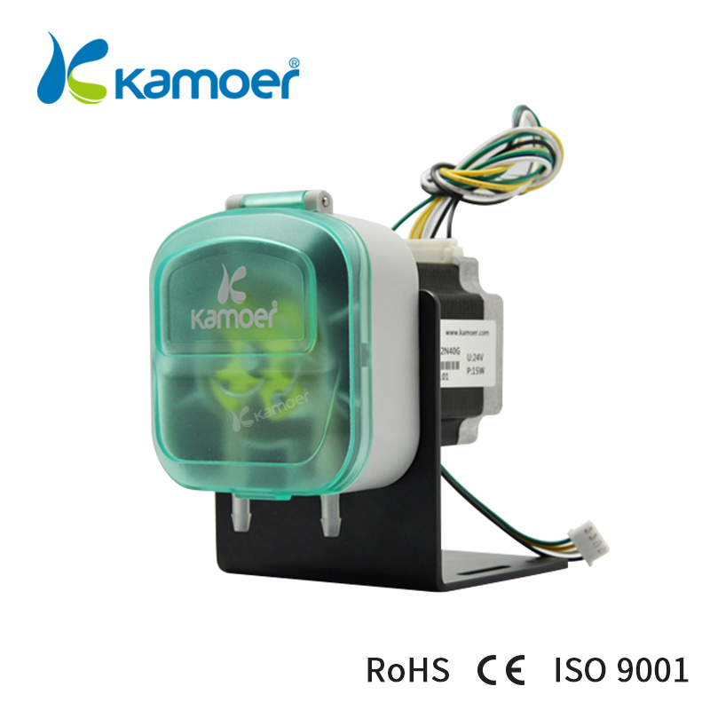 Kamoer 12V/ 24 V mini peristaltic pump with Stepper motor ( Max 900ml/min, 12/24V stepper motor) kcp3 small peristaltic pump with 24 v stepper motor aluminum alloy