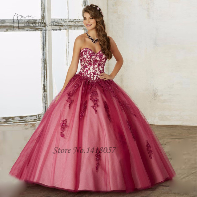 Puffy Orange Burgundy Quinceanera Dresses 2017 Cheap Quinceanera Gowns  Vestidos de 15 Anos Sweet 16 Ball Gowns with Jacket Beads ee7a7028c9fd