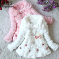 Bebé Niño Faux Fur Coat Junoesque Niños Fleece Lined Girls Winterwarm