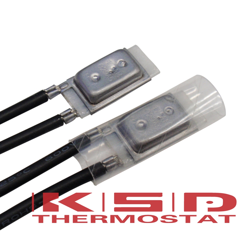 10Pcs 17AM Temperature Switch 17AM022 Thermal control Thermostat 60/65/70/75/80/85/90/95/100/105/110/115/120/125/130/135/150 image