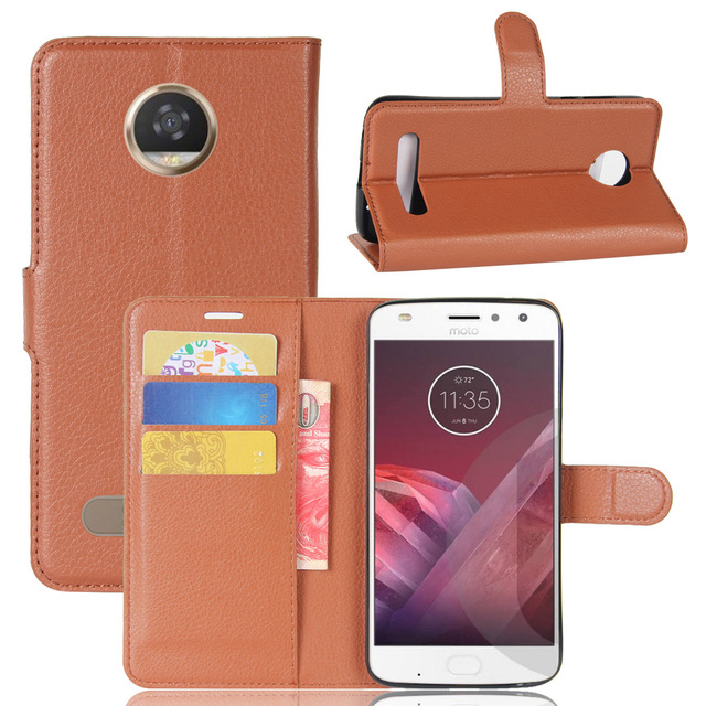 new concept f6829 acc32 US $3.57 15% OFF|YINGHUI For Fundas Motorola Moto Z2 Play Phone Case Flip  PU Leather Back Cover For Moto Z2 Play Cases With Stand Function coque-in  ...