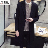 New Fashion Brand Clothing Jacket Men Wool Coat Double Breasted Pea Coats Men Long Wool Blends