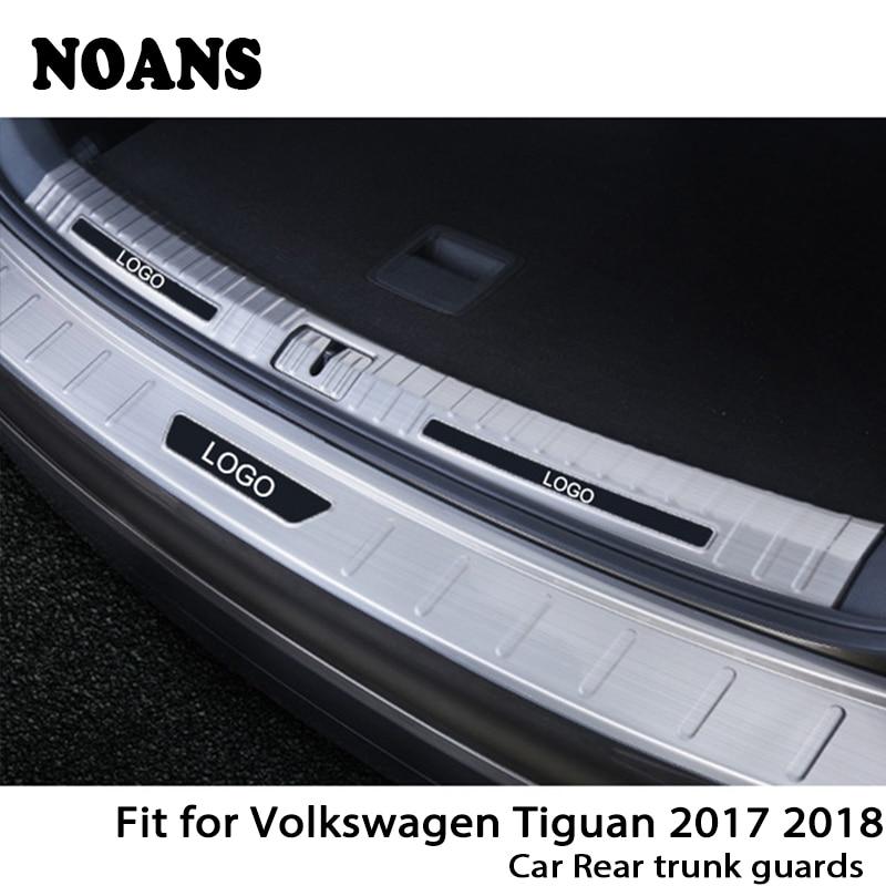 NOANS For Volkswagen VW Tiguan 2017 2018 MK2 Auto Car Rear Trunk Door Bumper Anti Scratch