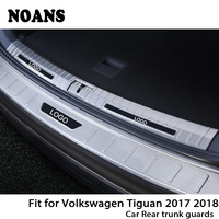 NOANS For Volkswagen VW Tiguan 2017 2018 MK2 Auto Car Rear Trunk Door Bumper Anti Scratch Strips Stainless Steel Accessories