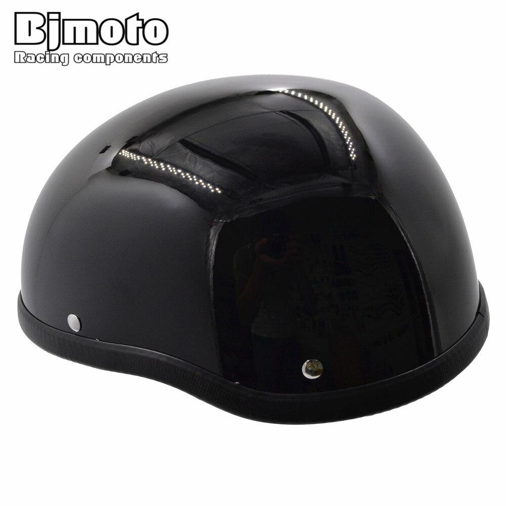 BJMOTO Männer/Frauen 1 Stück ABS Kunststoff Motorrad Helm Motocross Capacete Halb Helm für Harley Retro Motorräder
