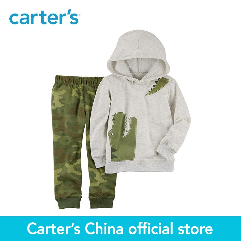 Carter's 2-Piece baby children kids clothing Boy French Terry Hoodie & Jogger Set 229G650 la miniatura french terry bottom