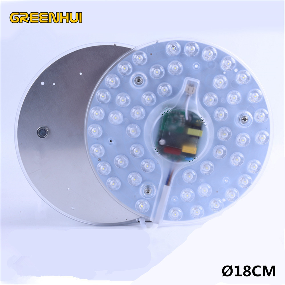 Ceiling Lights & Fans Provided 12w 24w Sound Control,radar Sensor,remote Control Led Ceiling Panel Lights Board Replacement Led Disc Plate Lights Cfl Lamp Volume Large