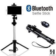 2017 Tripod Monopod Selfie Stick Bluetooth With Button Pau De Palo selfie stick for iphone 6 7 plus Android stick