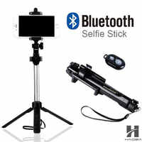 FGHGF T1 2018 Monopod trípode selfie Stick Bluetooth con botón De Pau De Palo, selfie Palo para el iphone 6 7 8 plus Android stick