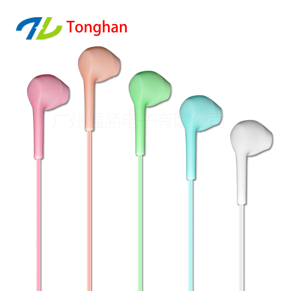 G005 Candy color Earphones Headsets Stereo Earbuds For mobile phone MP3 MP4 For PC