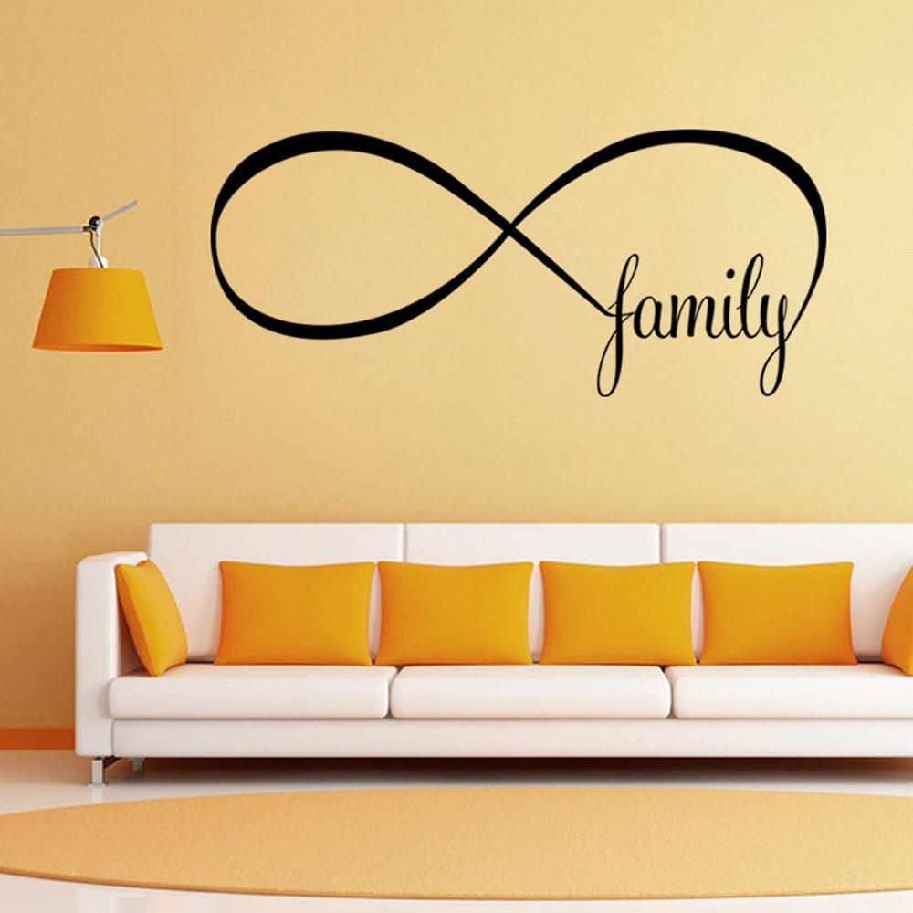 DIY Decor 22*50CM Bedroom Wall Stickers Decor Infinity Symbol Word ...