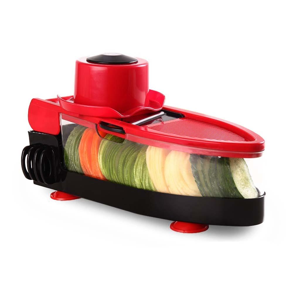 HOT SALE Mandoline Slicer - Upgraded Adjustable Vegetable Slicer with 5 Blades Peeler, Container - Food Veggie Slicer, Vegetab