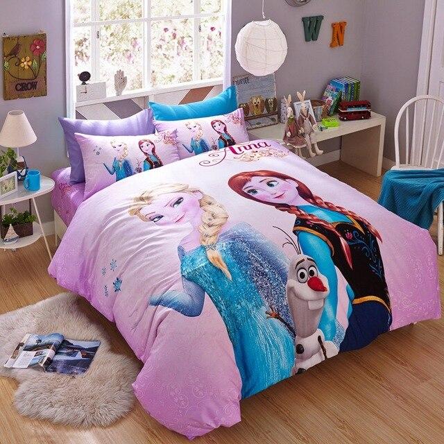 Disney 100 Cotton Pink Frozen Bedding Set Cartoon Duvet Cover Sheet