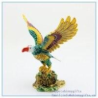 Creative Crystal Animal Eagle Shape Trinket Box For Home Decoration