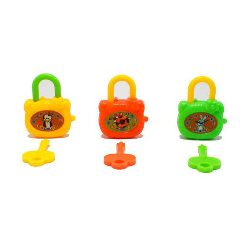 3 шт./компл. Красочные мультфильм Мини пластик замок с ключом детские развивающие Новинка кляп игрушечные лошадки тетрадь витой яйцо забавные игр