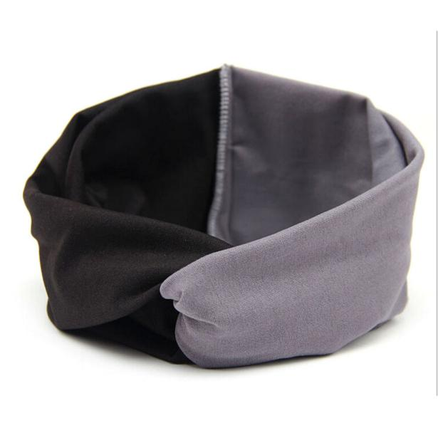 Women Double Color Yoga Cloth Headband Turban Headscarf Wrap Baby Hair Accessories Feb14 W20d40