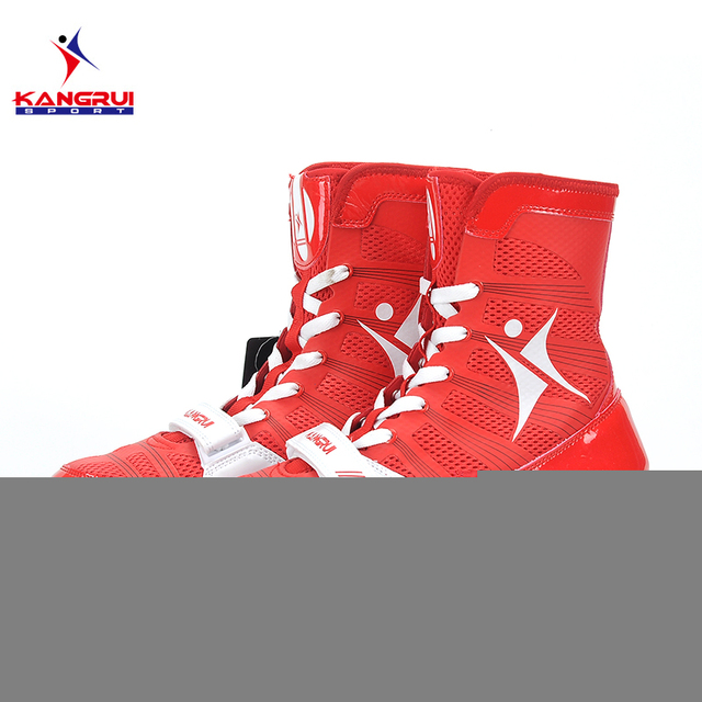 2017 New 3 colors professional boxing shoes Authentic wrestling shoes for men training shoes tendon at the end leather sneakers