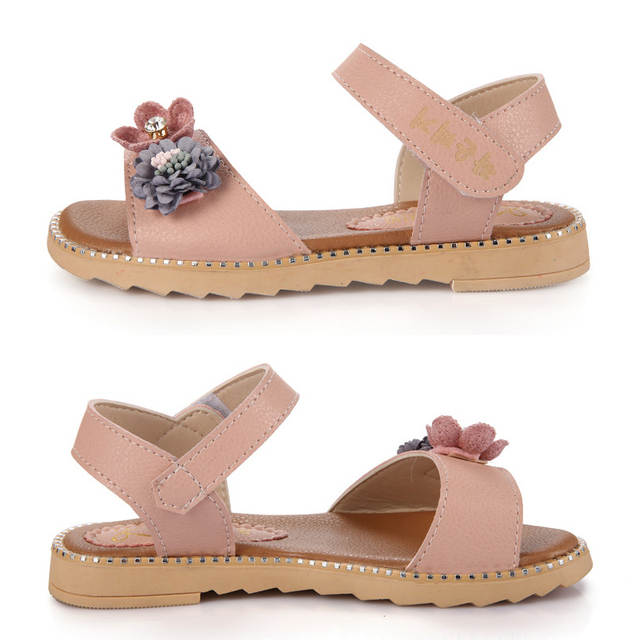 4b7c54631 placeholder New Sandals for Girl Kids Flower Design Cute Girls Shoes Soft  Leather Kids Sandals Princess Slippers