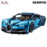 3636 шт. дизайн серии СИНИЙ Racing Super Car строительные блоки, совместимые Legoed техника Скорость собрать кирпич игрушки для детей Подарки