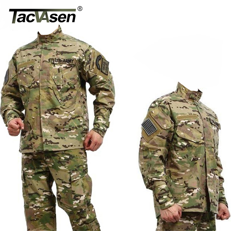 US $43.62 35% OFF|TACVASEN Männer CS Paintball Anzug Armee Kampf BDU Militär Uniform Jagd Anzug Wargame MANTEL + HOSEN Set Taktische Jacke TD JLHS