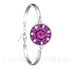 Good A++ Brand New Twelve Constellations Glass Silver Plated Bracelet Time Gem Popular Jewelry For Women Wholesale(China)