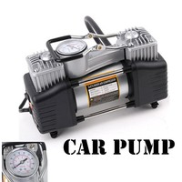 Wholesale 12v Air Compressor 150PSICar Tyre Inflator Double Cylinder Metal Car Tire Inflator MINI High Pressure Air Pump