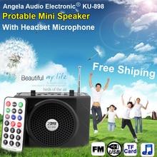 Envío Gratis Altavoz Con Micrófono Amplificador de Voz Booster Megáfono Altavoz Para MP3 Guía Docente de Promoción de Ventas