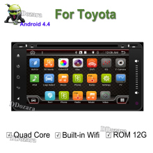 2 din android 6.0 cassette player for toyota radio 2din gps navigation autoradio car dvd player Aux Steering Wheel 200*100mm