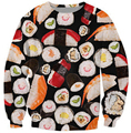 3d delicious food Sushi hoodies sweat-shirt men women harajuku popular hip hop outfit clothing beauty fashion sudadera