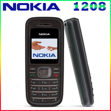 1208 Оригинальный Мобильный Nokia 1208 Дешевые телефоны GSM открыл телефон Бесплатная доставка