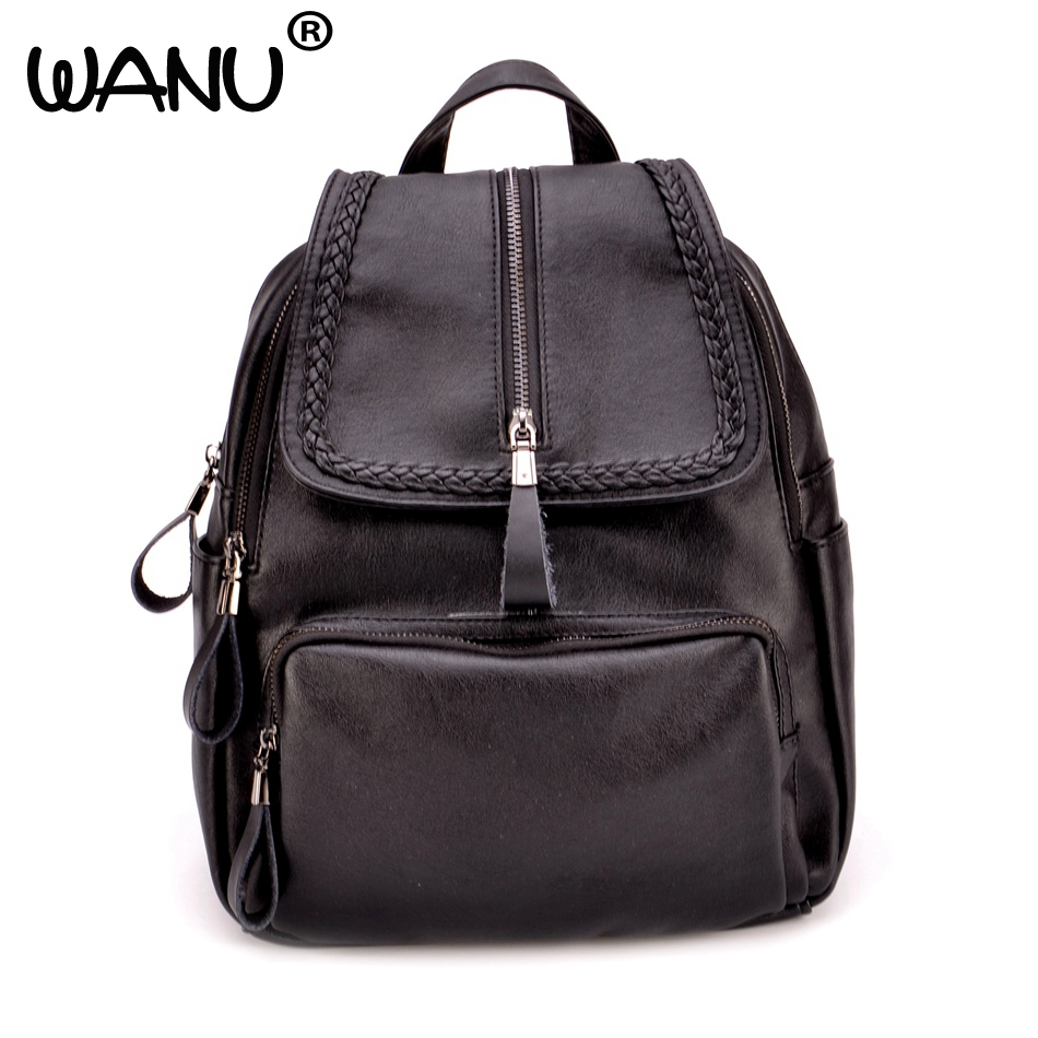 WANU Casual New Style Leather School Bags High Quality Hotsale Women Candy Clutch Ofertas Famous Designer